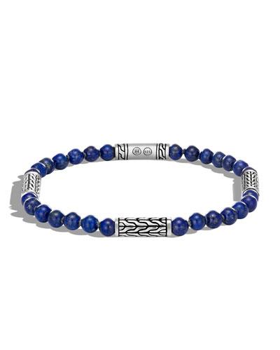 Men's Classic Chain Lapis Bracelet