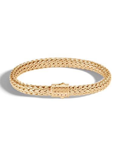 Men's Classic Chain 18k Yellow Gold Bracelet