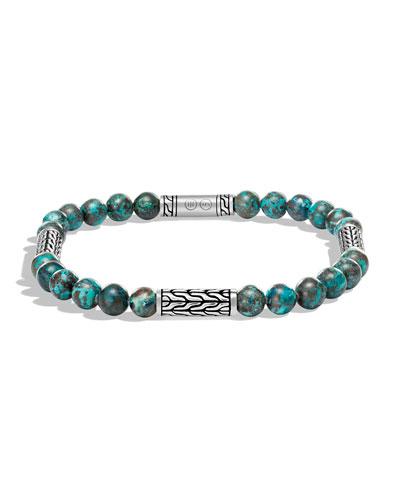 Men's Classic Chain Chrysocolla Bracelet