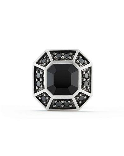 Pavé Stud Earring with Black Diamonds