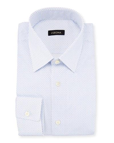 Dot-Print Dress Shirt