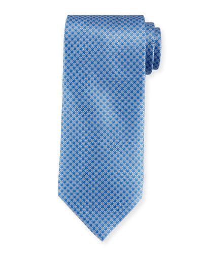 Small-Pattern Silk Tie