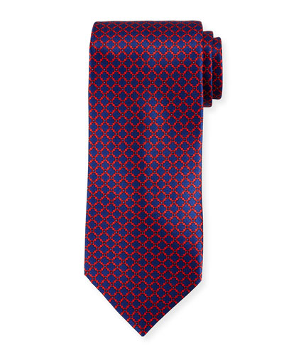 Medallion Pattern Silk Tie