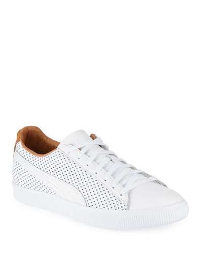Clyde Perforated Leather Creeper Sneaker