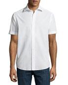 Seersucker Short-Sleeve Sport Shirt