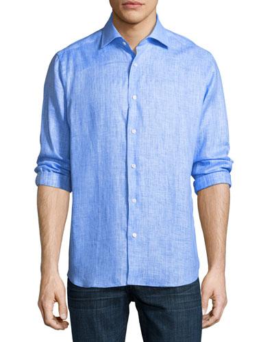 Solid Linen Sport Shirt