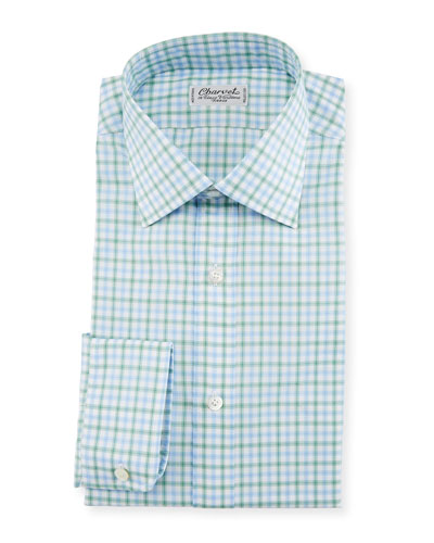 Tattersall Dress Shirt, Green