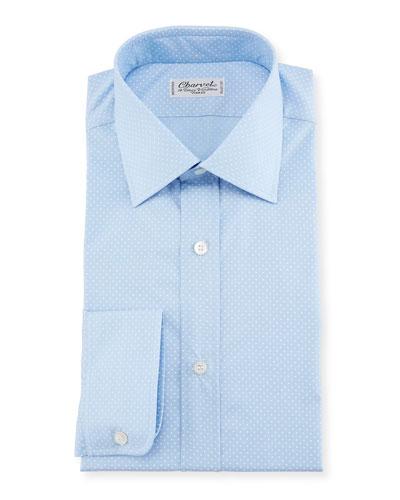 Small Dot Dress Shirt, Blue