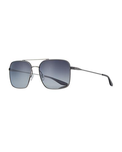 Men's Metal Squared Aviator Sunglasses