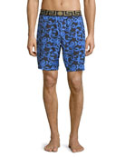 Barocco Net Long Swim Trunks