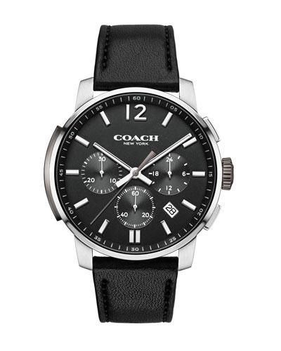 42mm Bleecker Chronograph Watch, Black