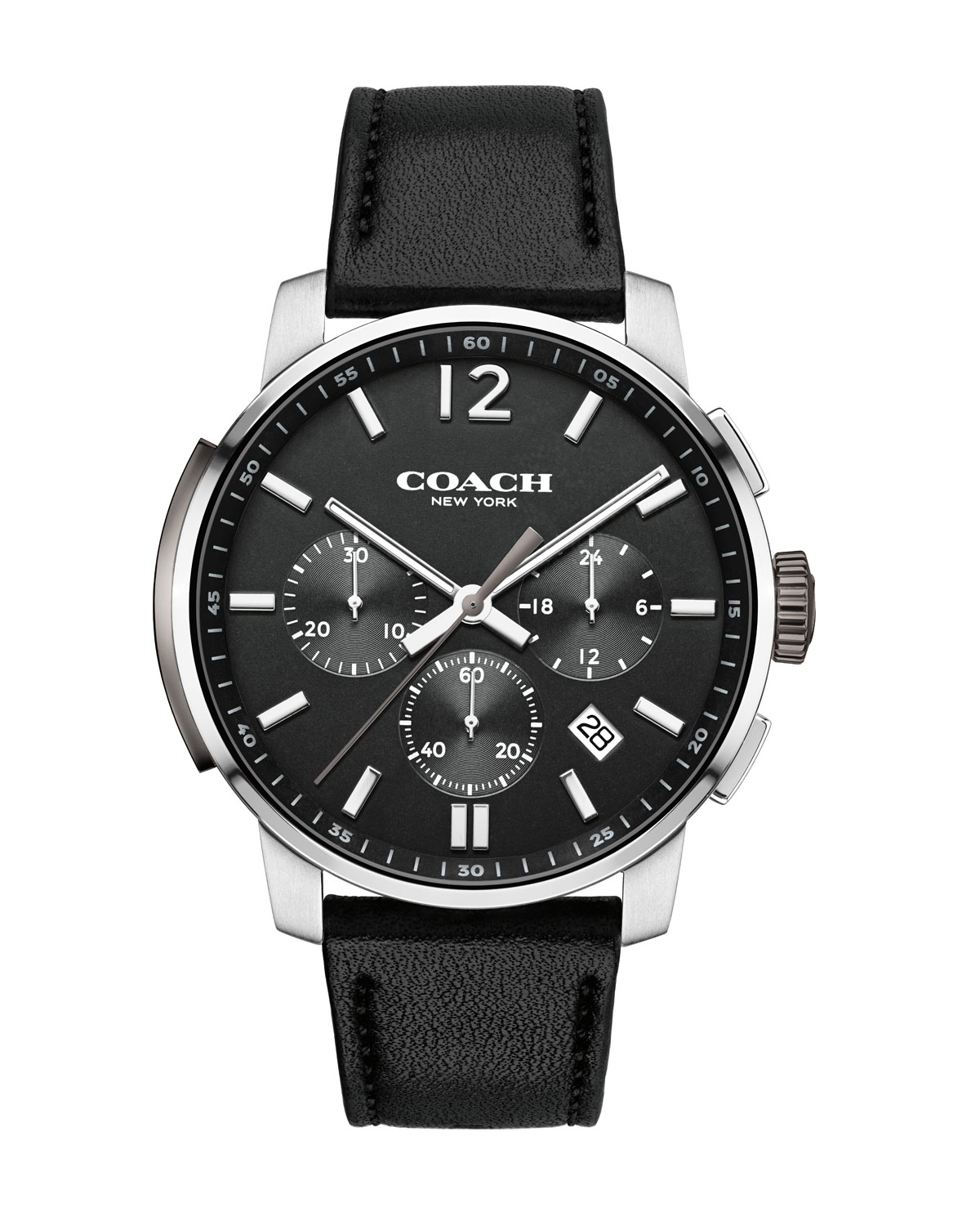 42mm Bleecker Chronograph Watch, Black