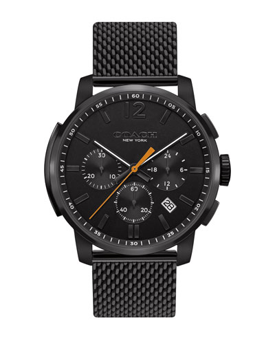 42mm Bleecker Chronograph Watch, Matte Black