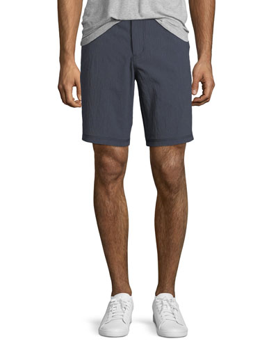 Triple-Needle Cotton-Twill Shorts