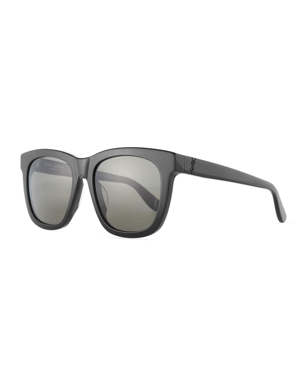 Men's SL M24K Oversize Square Acetate Sunglasses