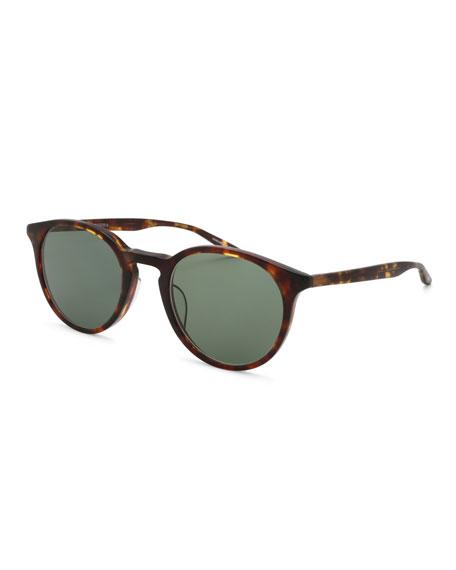 Barton Perreira Princeton Round Tortoiseshell Sunglasses