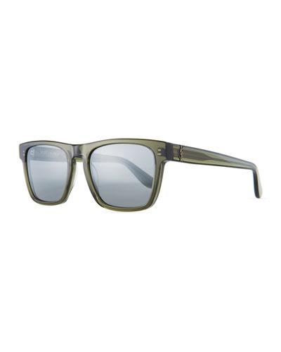 Square Acetate Sunglasses, Gray