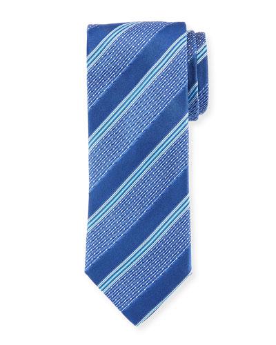 Silk Wide Broken Stripes Tie