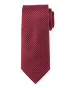 Mini Coffee Bean Silk Tie, Burgundy