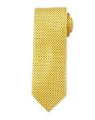 Mini Coffee Bean-Pattern Silk Tie, Yellow