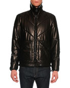 Napa Leather Puffer Jacket