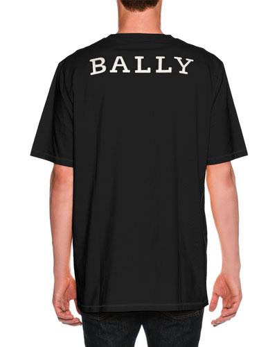 Oversized Logo-Back T-Shirt, Black