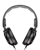 Leather Over-Ear Headphones, Black