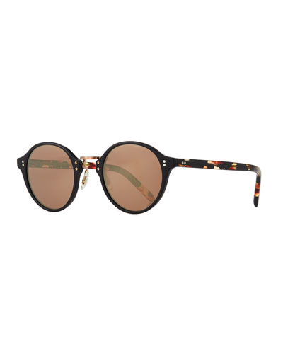 30th Anniversary Round Sunglasses, Rose Golden