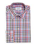 Eton Multicolor Large Check Cotton Dress Shirt