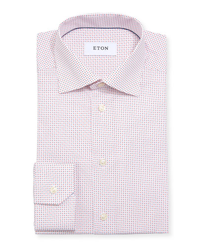 Micro Star Cotton Dress Shirt