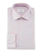 Contemporary Fit Tattersall Cotton Dress Shirt