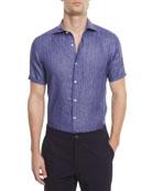 Linen Short-Sleeve Sport Shirt