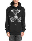 Snake-Print Jumping Mickey Mouse-Graphic Hoodie