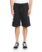 Flags-Applique Cotton Shorts