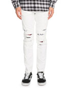 Distressed Biker Jeans