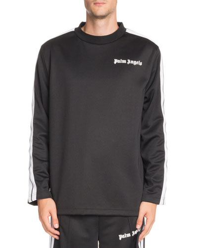 Logo-Graphic Long-Sleeve Track T-Shirt