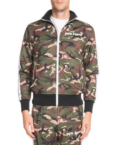 Camouflage-Print Classic Track Jacket