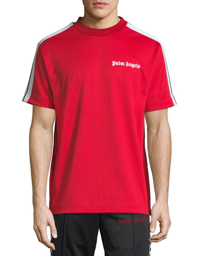 Palm Angels  EMBROIDERED-LOGO TRACK T-SHIRT