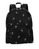 Men's Small Skeleton-Print Backpack
