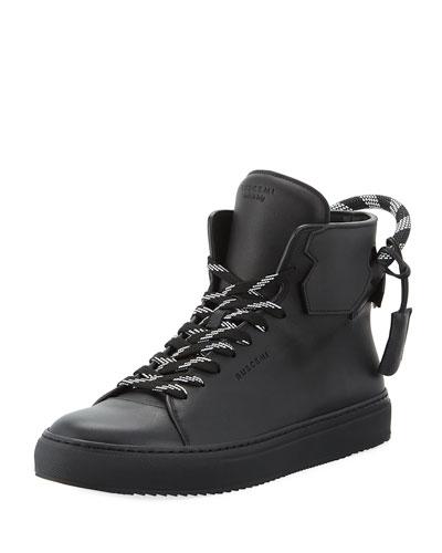 Men's 125mm Corda Leather High Top Sneaker