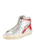 Men's Slide High-Top Leather Sneaker
