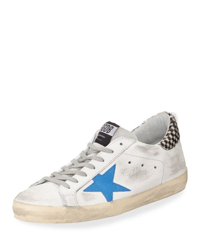Men's Distressed Superstar Leather Low-Top Sneaker