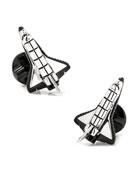 3D Space Shuttle Cuff Links