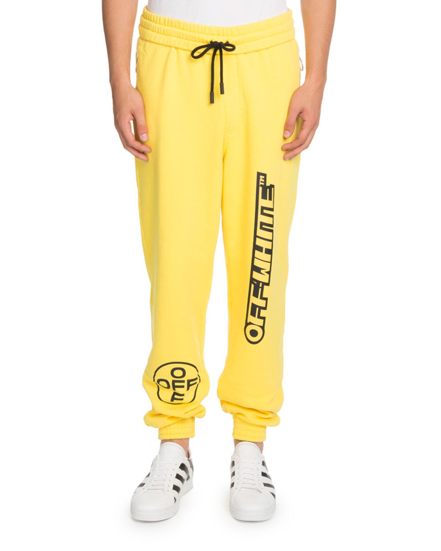 Contrast-Graphic Sweatpants
