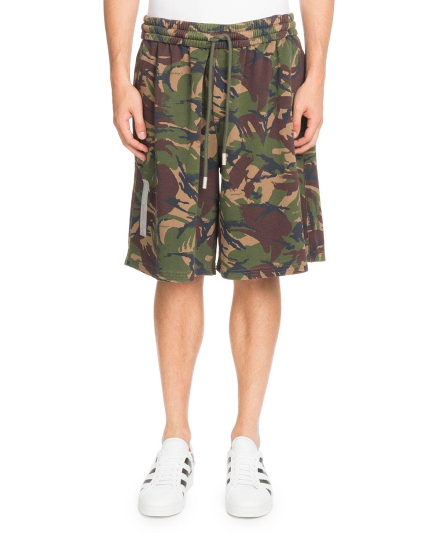 Oversized Camouflage-Print Shorts
