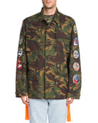Camouflage-Print Cotton Field Jacket