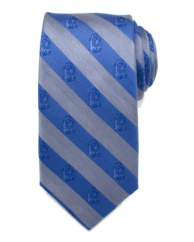Star Wars R2-D2 Striped Silk Tie