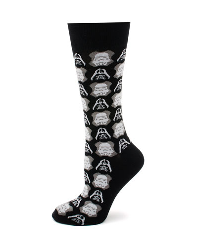 Star Wars Darth Vader and Storm Trooper Socks