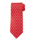 Elephant Golf Silk Tie