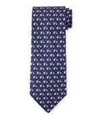 Golf Elephant Silk Tie